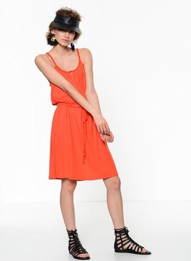 Fashion Friends Askılı Elbise Mercan